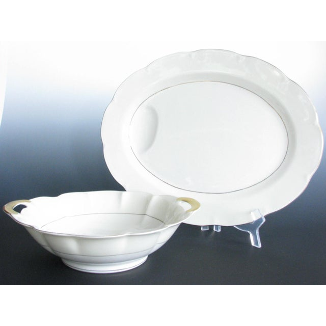 1950s Theodore Haviland New York Leeds Platter and Concord Serving Bowl For Sale - Image 13 of 13