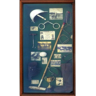 Vintage Polo Memorabilia Shadow Box For Sale