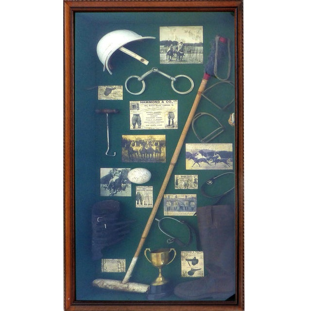 Vintage Polo Memorabilia Shadow Box For Sale