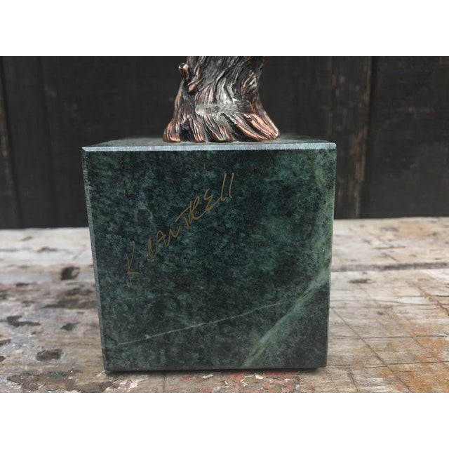 """""""Sunday Brunch"""" Bronze/Marble Eagle Sculpture by Kitty Cantrell For Sale - Image 10 of 11"""