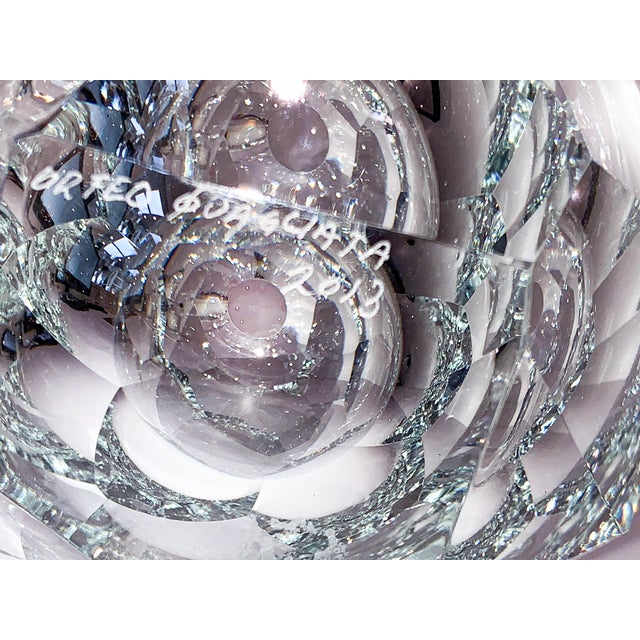 Clear Crystal Mipreshus Vase by Orfeo Quagliata For Sale - Image 10 of 11