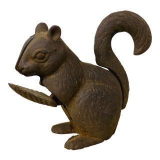 Antique 1920's Cast Iron Squirrel Nutcracker For Sale