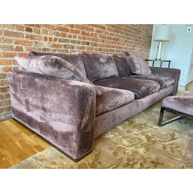 This is a luxurious sofa and ottoman. It has aged incredibly well. A testament to the fine craftsmanship and build quality...