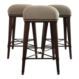 Modern Windsor Counter Stools- Set of 3 For Sale