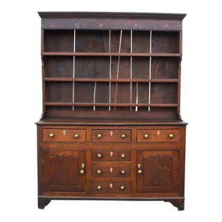 Early Nineteenth Century Oak Welsh Cupboard With Bone Detail For Sale