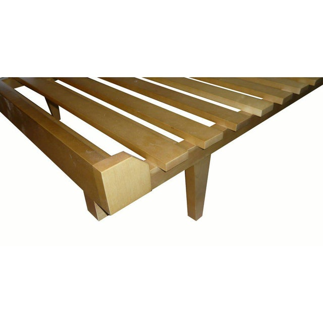 Mn Originals solid maple daybed shown in a natural fruitwood finish. Custom orders have a lead time of 10-12 weeks FOB...