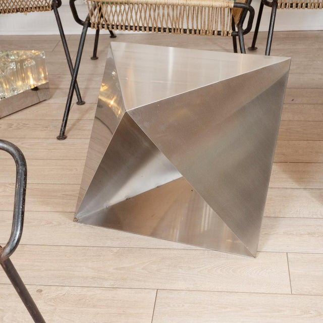 Mid-Century Modern Modular Polyhedron Side Tables by Manfredo Massironi For Sale - Image 3 of 12