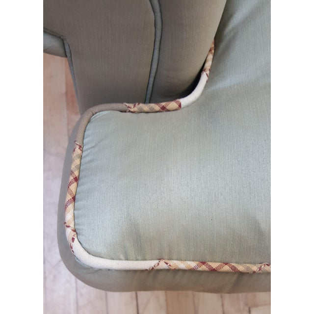 Hickory Chair Furniture Company Hickory Chair Mint Green Club Chair For Sale - Image 4 of 8
