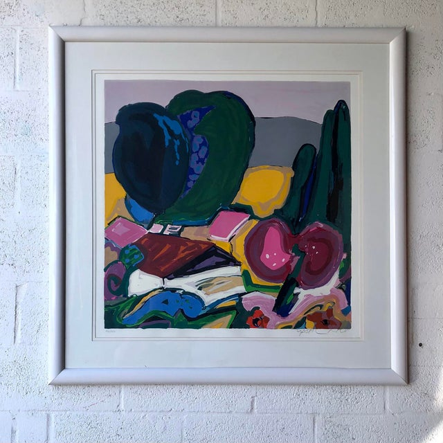 Large Vintage Original Lithograph Numbered and Signed by the Artist. For Sale - Image 12 of 12
