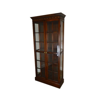 Chippendale Style Mahogany 2 Door Curio Display Cabinet For Sale