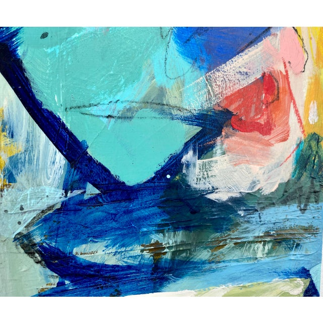 "Canvas ""Around the World and Back"" by Gina Cochran Original Abstract Painting For Sale - Image 7 of 13"