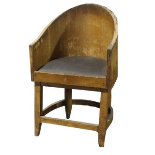 20th Century Empire Style Barrel Chair For Sale