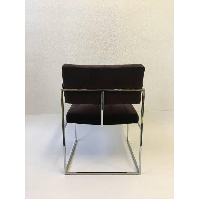 Mid-Century Modern Set of Six Chrome Armchairs by Milo Baughman for Thayer Coggin For Sale - Image 3 of 11