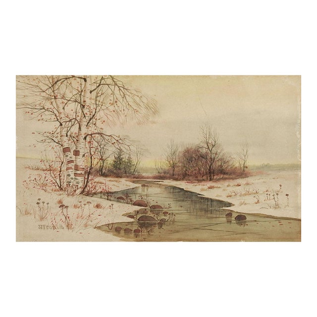 J J Francis Watercolor Landscape Painting For Sale