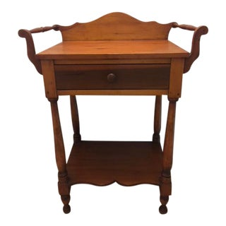 Antique Wash Stand With Detailed Arms For Sale