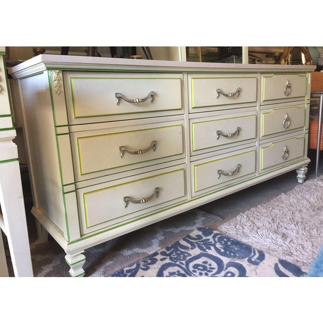 Mid-Century Modern Morris of California 9 Drawer Dresser Cabinet and Mirror For Sale - Image 3 of 7
