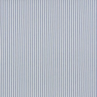 Schumacher Barbary Stripe Indoor/Outdoor Fabric in Blue For Sale