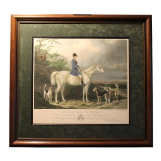 Late 19th Century Antique Edward Hacker Colored Engraving Print For Sale