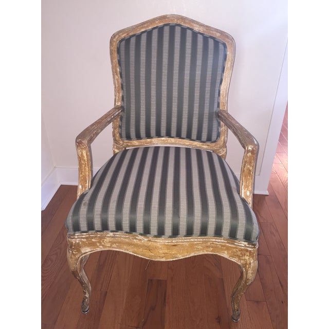 French Provincial Distressed Wood Chairs - 6 - Image 2 of 5