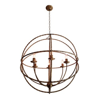 Armillary Sphere Pendant Light For Sale