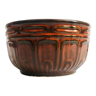 Vintage Earthy Red Pottery Bowl For Sale