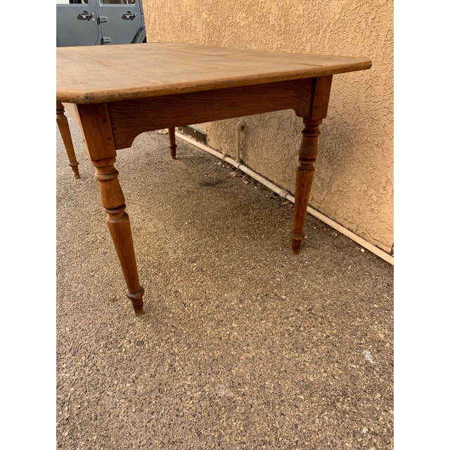 Authentic Antique French Farm Table For Sale - Image 4 of 7