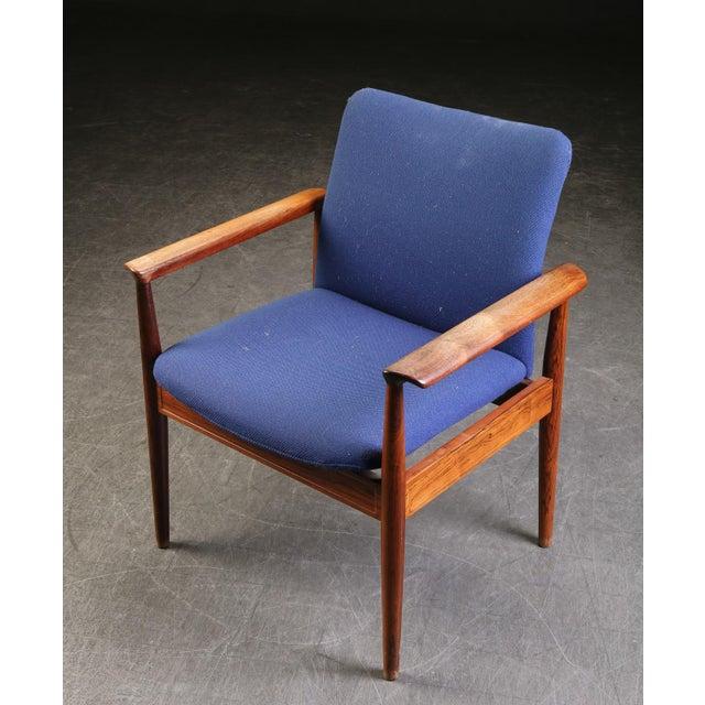 Finn Juhl Finn Juhl Rosewood Armchair 209 Diplomat For Sale - Image 4 of 5