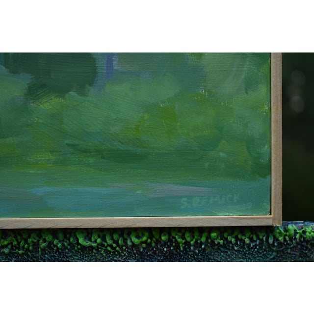 """Abstract Stephen Remick, """"Misty Morning Medley"""", Contemporary Plein Air Painting For Sale - Image 3 of 8"""
