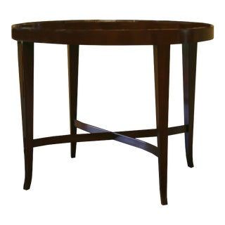 Transitional Barbara Barry for Baker Oval Tea Table For Sale