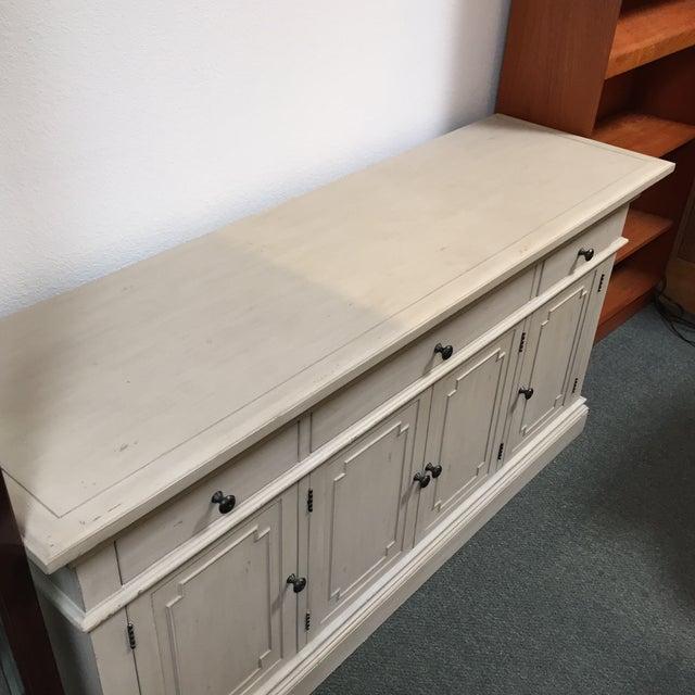 Restoration Hardware Antique White Finished St. James Credenza For Sale - Image 5 of 11