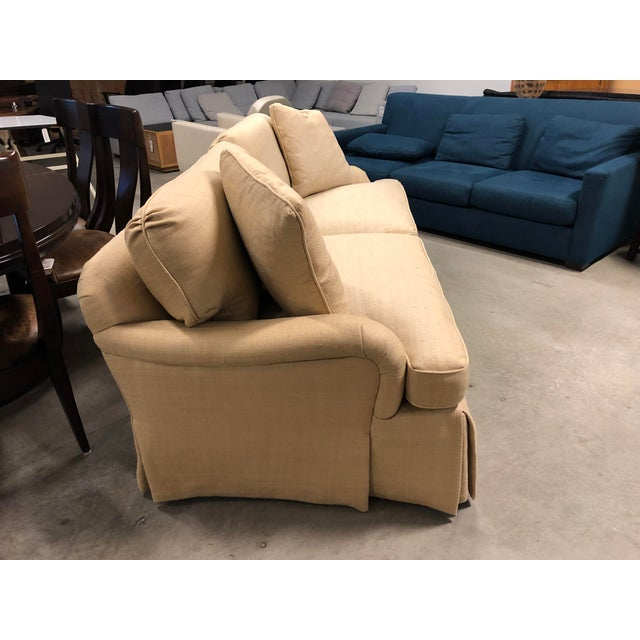 2010s Century Furniture English Arm Sofa in Honey Silk For Sale - Image 5 of 7