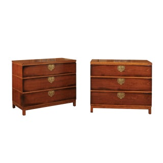 Chic Restored Pair of Michael Taylor Style Chests, Circa 1957 For Sale