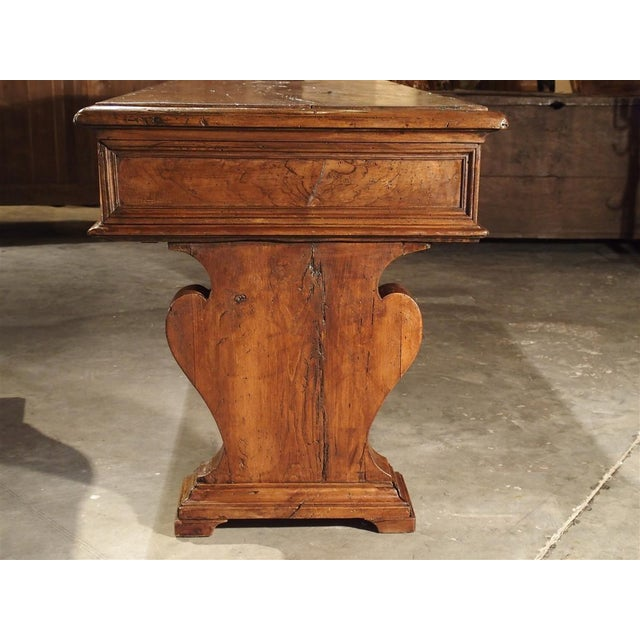 Late 19th Century 19th Century Walnut Wood Refectory Table From Italy For Sale - Image 5 of 12