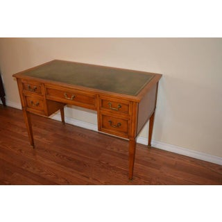Louis XVI Style Fruitwood Desk With Leather Top and Side Drawers Preview