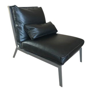 Leather Arm Chair With Cross Back Design