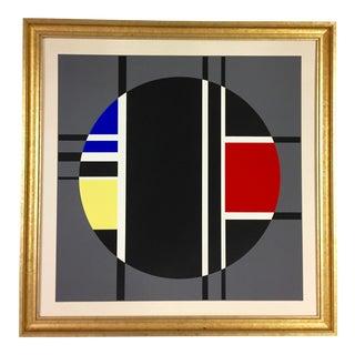 1972 Vintage Jean Albert Gorin French Geometric Lithograph Print