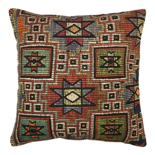 "Rug & Relic Stripe Kilim Pillow | 24"" For Sale"