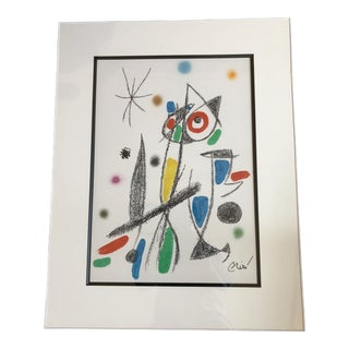 Joan Miro Lithograph Print For Sale