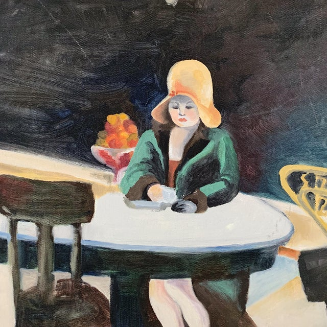 Contemporary 1970s Vintage Italian Oil on Canvas Painting For Sale - Image 3 of 6