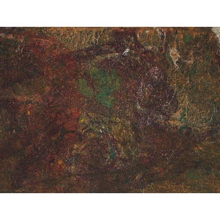 """""""Comsos Viii"""" Abstract Painting in Maroon, Oil on Paper, Circa 1979 For Sale"""