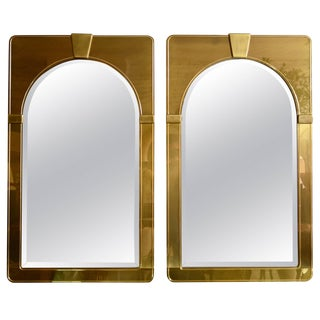 Mastercraft Pair of Brass Mirrors For Sale