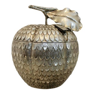 Excellent Silver 'Apple' Ice Bucket by Mauro Manetti, Italy For Sale