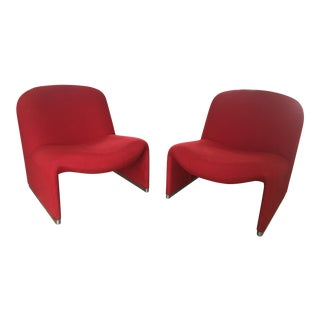 1970s Vintage Giancarlo Piretti for Castelli Italian Alky Chair- A Pair For Sale