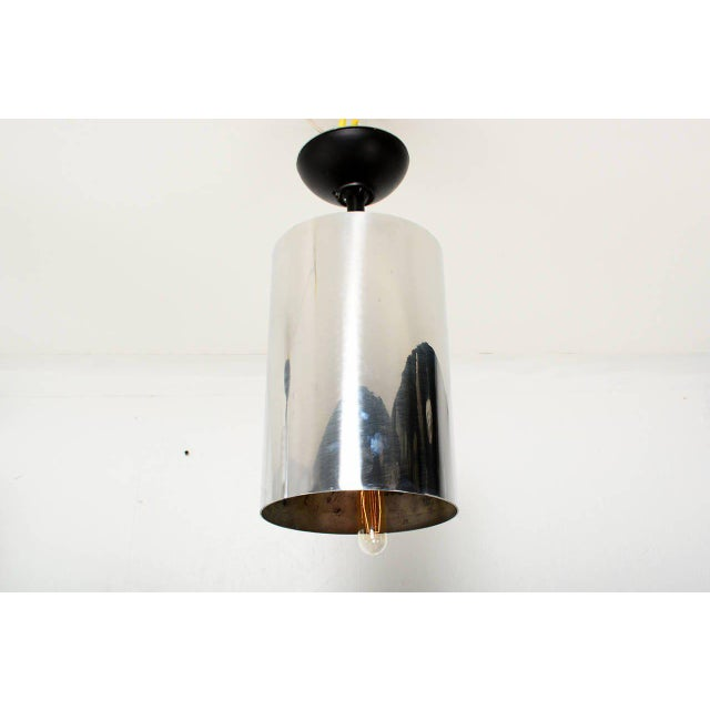1950s Set of 6 Aluminum Hanging Lamps For Sale - Image 5 of 6