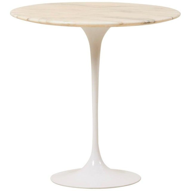 Tulip Side Table With White Marble Top by Eero Saarinen for Knoll International For Sale - Image 9 of 9