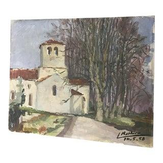 French Provincial Vintage Landscape