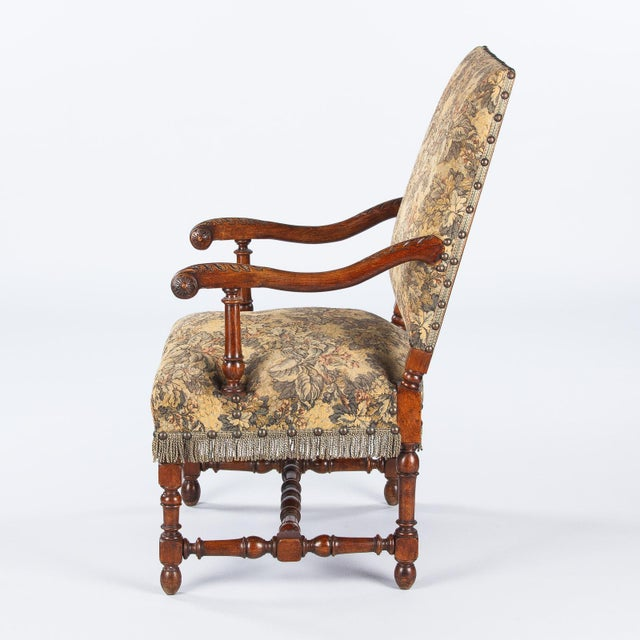 1860's French Louis XIII Style Armchairs - Pair - Image 2 of 10