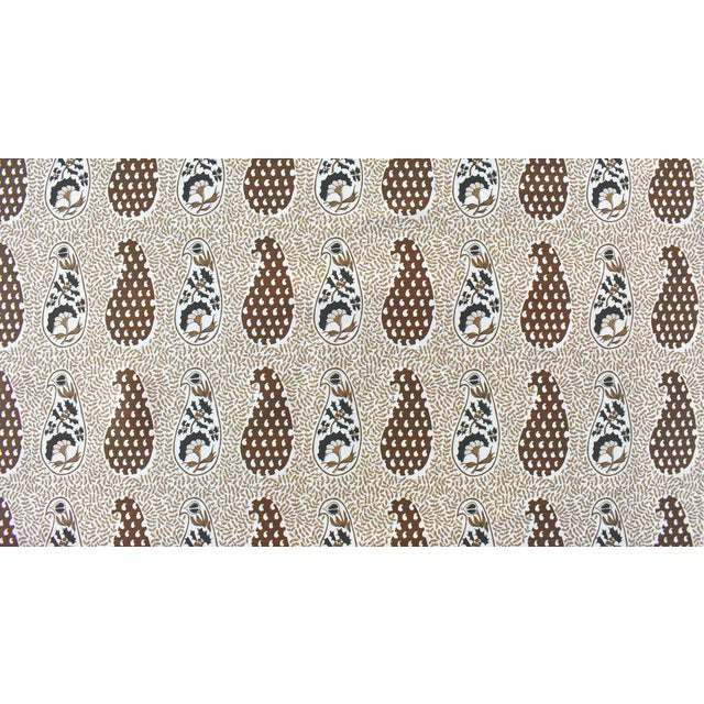 Transitional Virginia Kraft Jangal Supreem Fabric, 3 Yards in Naturals For Sale - Image 3 of 3