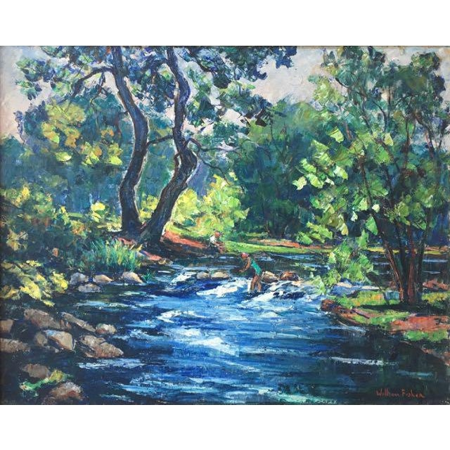 Maine River Landscape Painting by William Fisher For Sale - Image 10 of 10