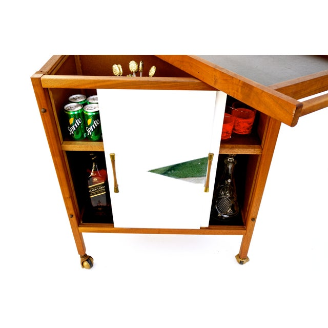 Mid-Century Danish Modern Teak Bar Cart - Image 6 of 11